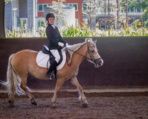 Meisje op paardje